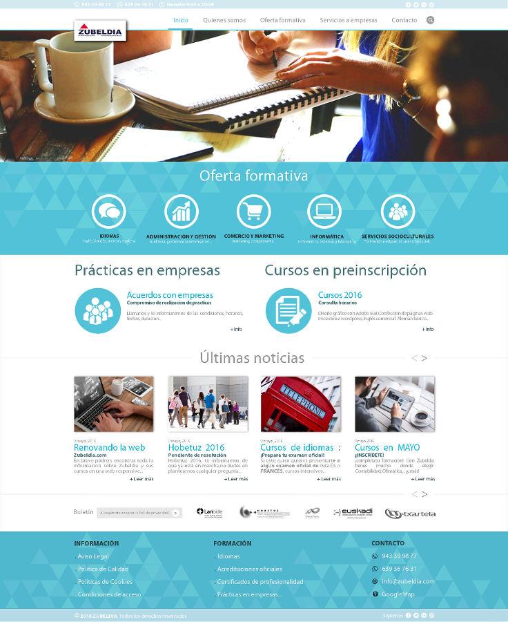 Diseño web responsive - Zubeldia Formación
