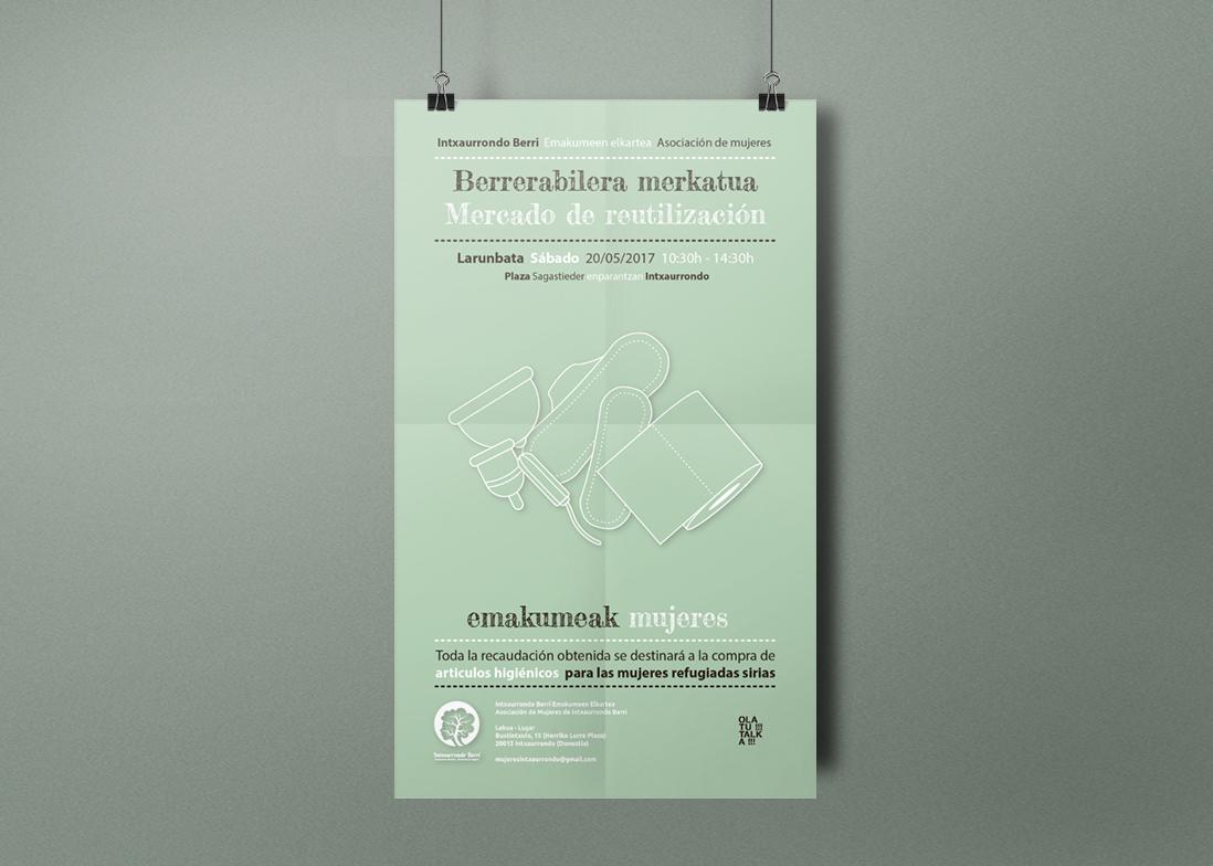 """Mercado de reutilización"" organizado por OLATU!!!TALKA!!!"