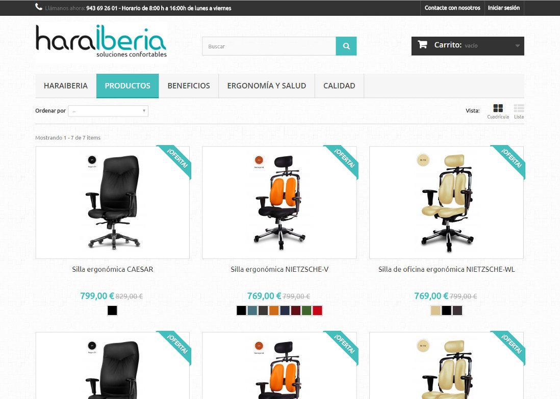 Tienda online productos