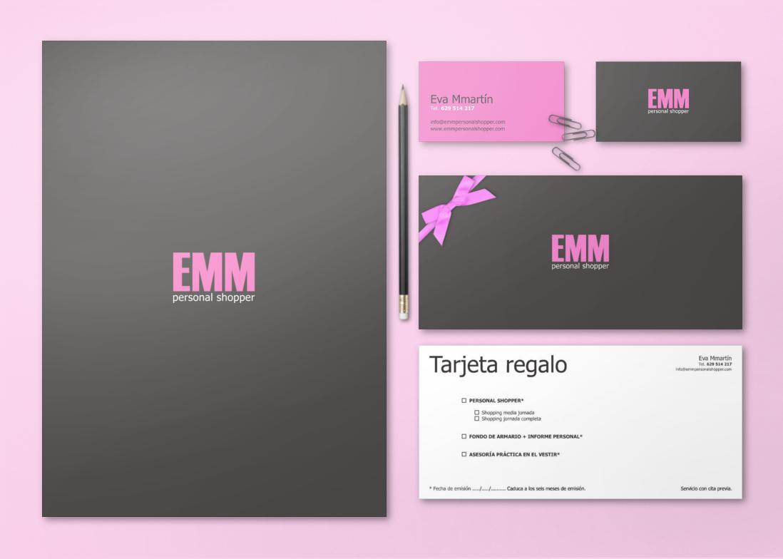 Papelería corporativa - EMM personal Shopper